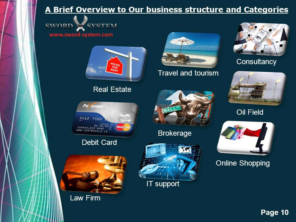 A Brief Overview to Our business structure and Categories