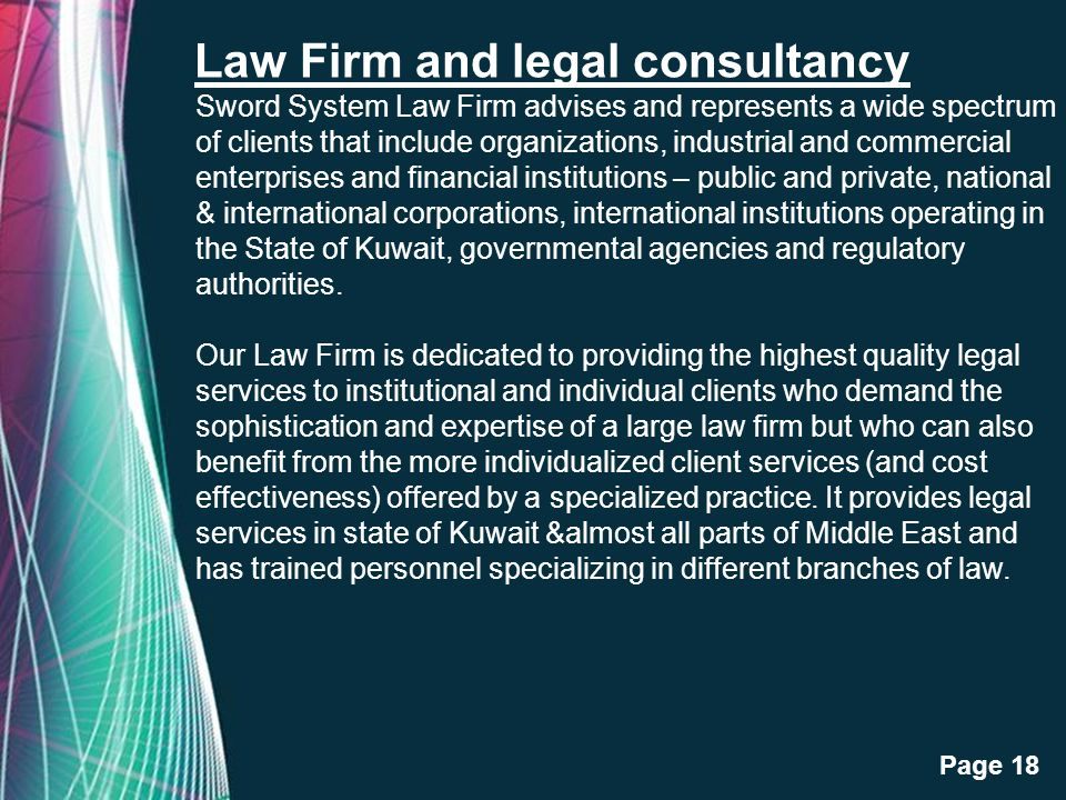 Law Firm and legal consultancy