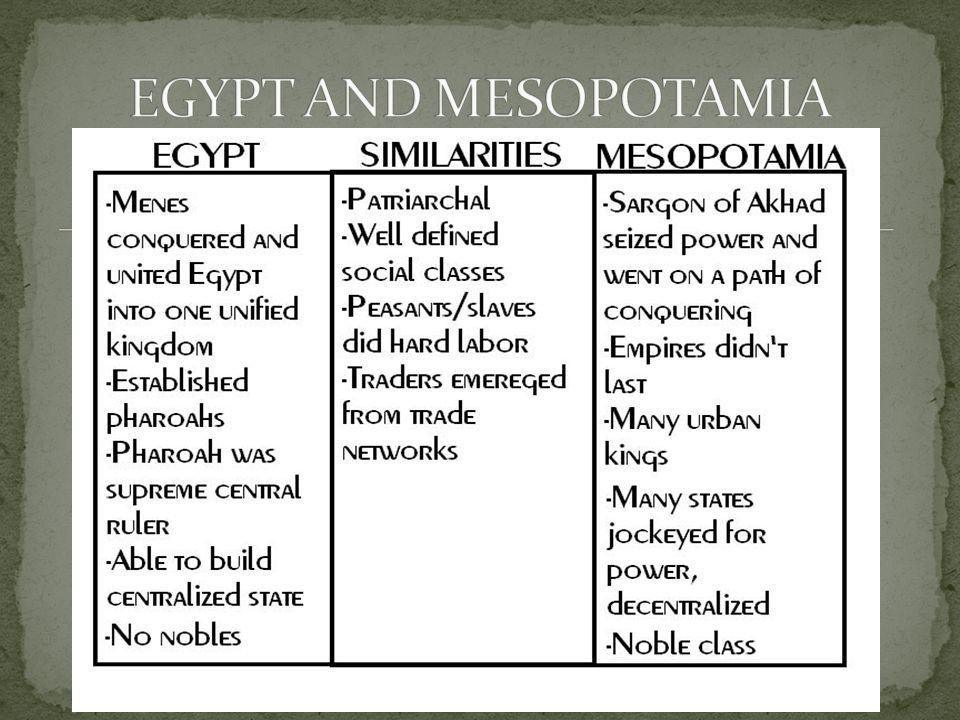 EGYPT AND MESOPOTAMIA