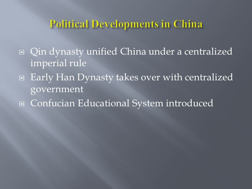 Political Developments in China
