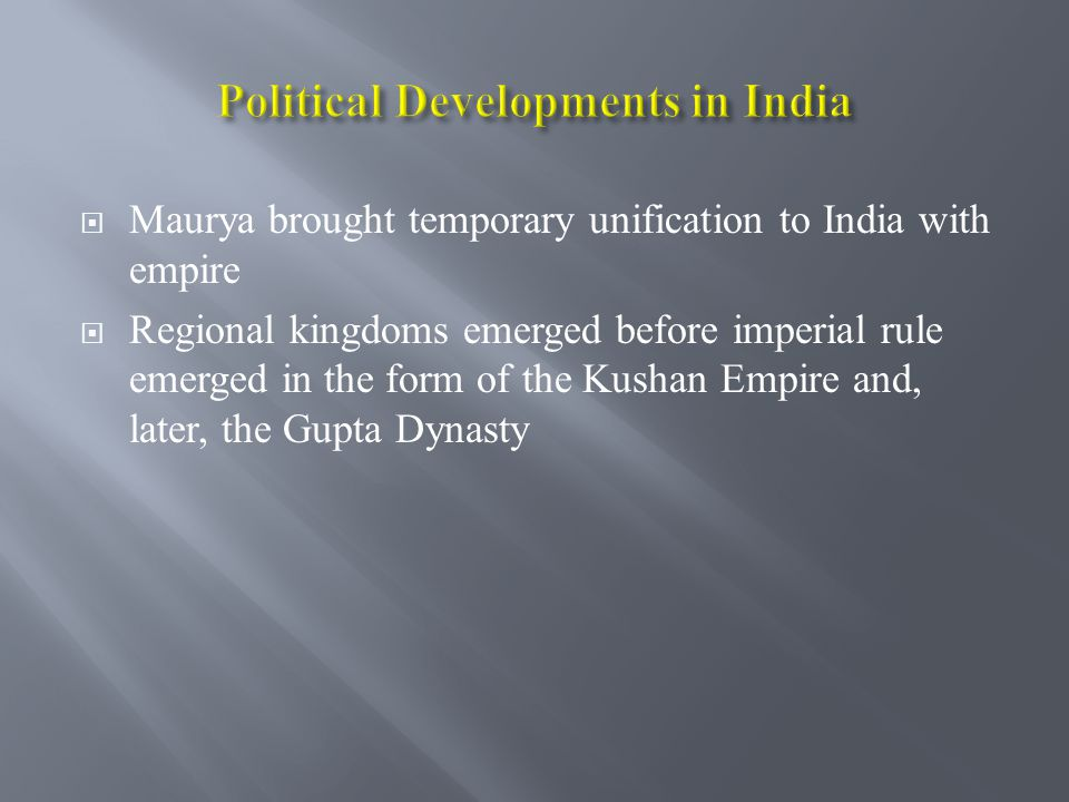 Political Developments in India