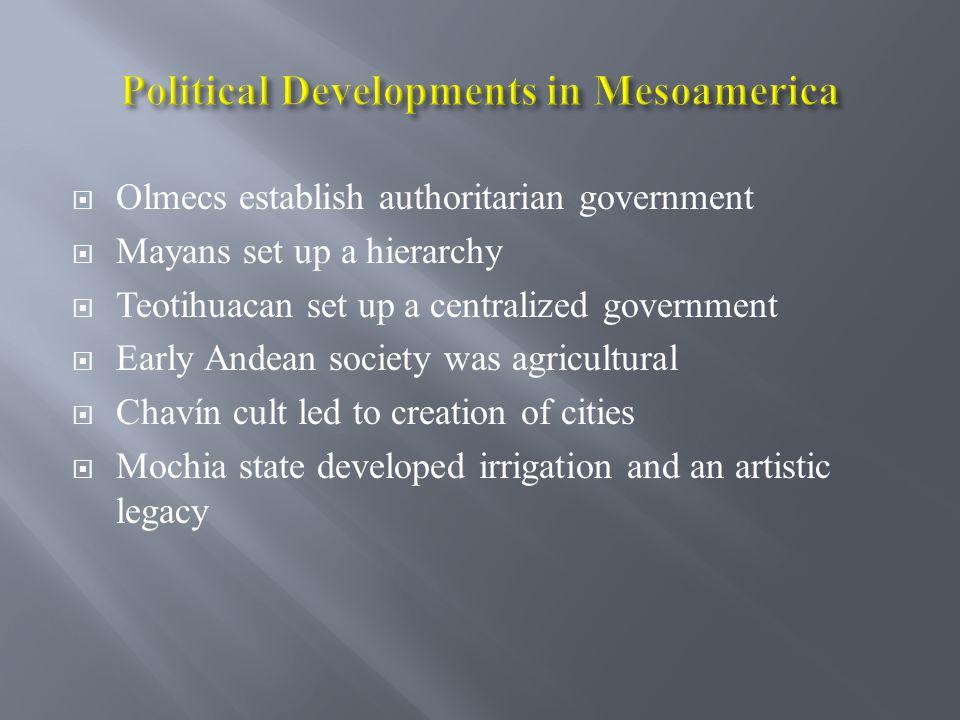 Political Developments in Mesoamerica