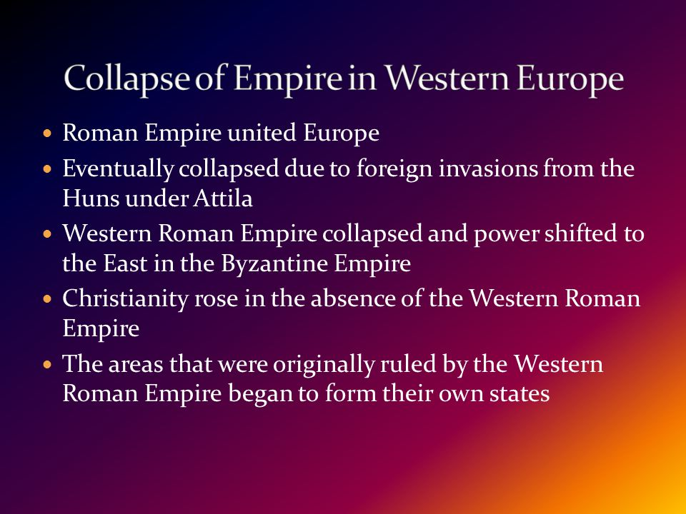 Collapse of Empire in Western Europe