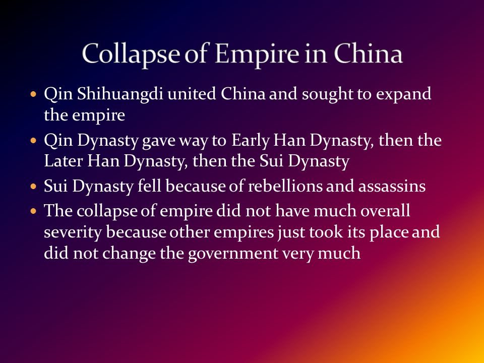 Collapse of Empire in China