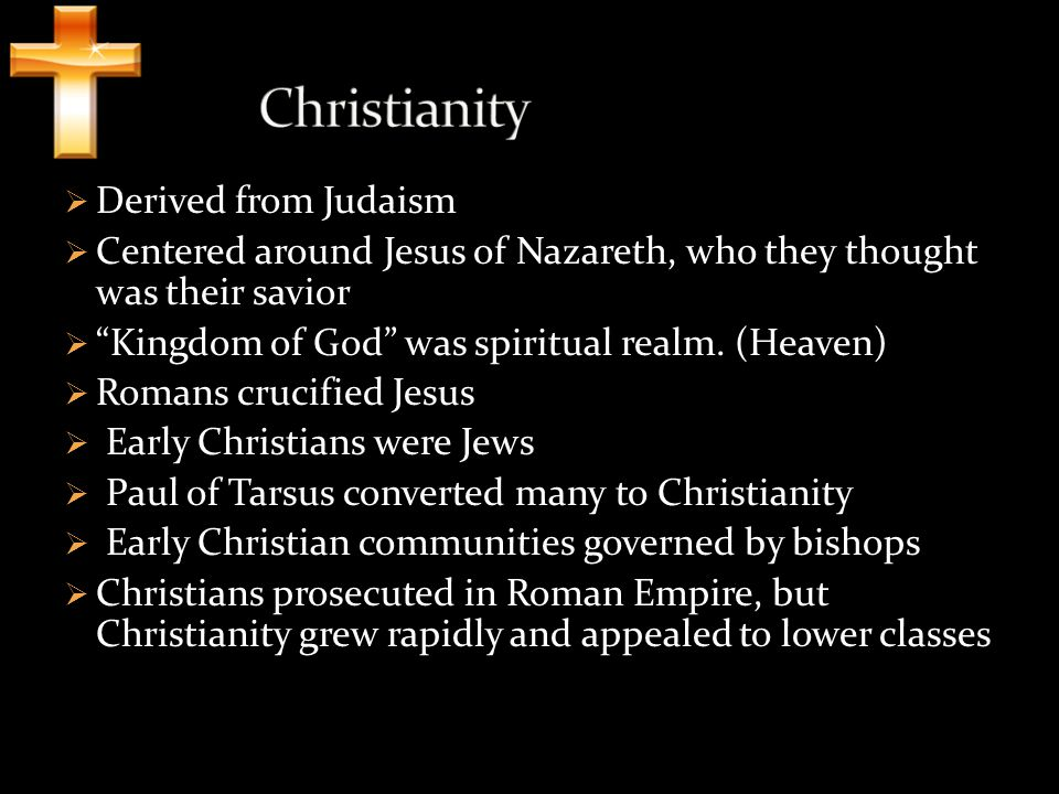 Christianity Derived from Judaism