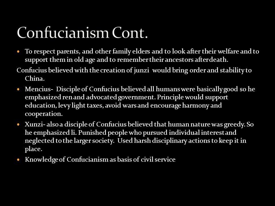 Confucianism Cont.