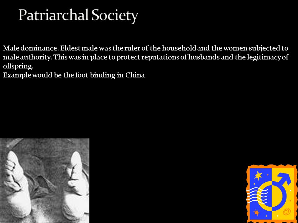 patriarchy in china Where the hegemony of what we call patriarchal capitalism with chinese   trajectory of gender politics in china since 1949, with specific focus on how the.