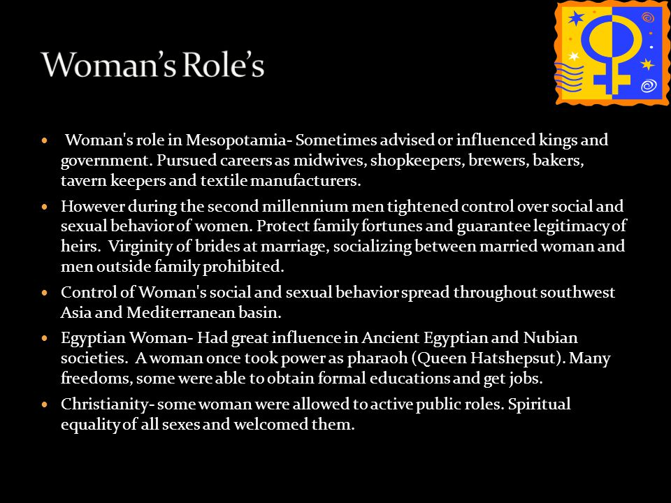 Woman's Role's