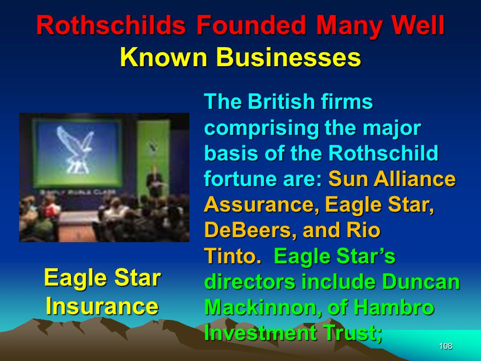 Rothschilds Founded Many Well Known Businesses