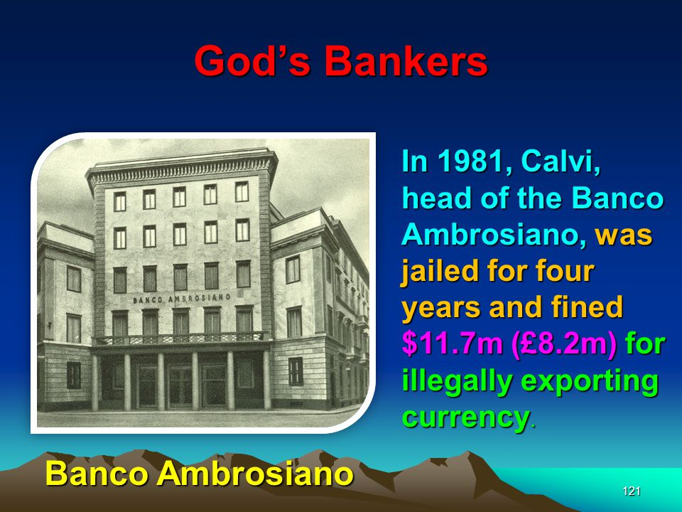 God's Bankers Banco Ambrosiano