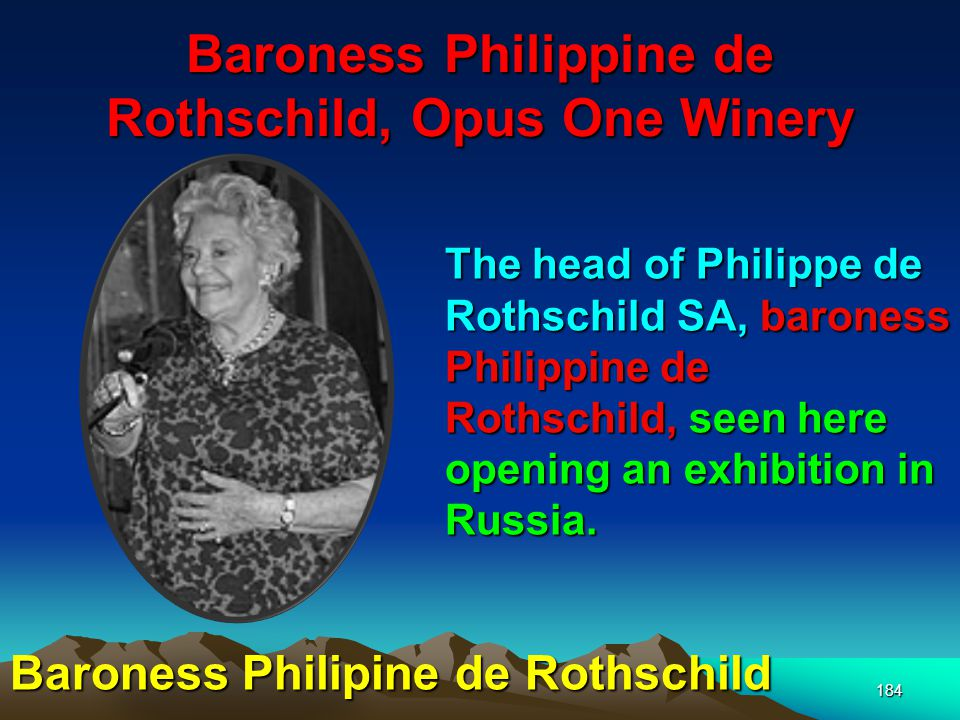 Baroness Philippine de Rothschild, Opus One Winery