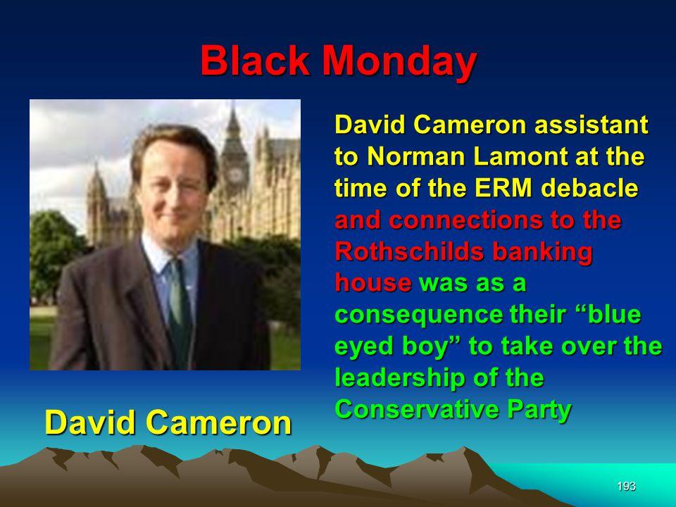Black Monday David Cameron