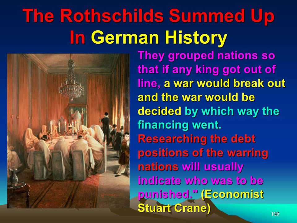 The Rothschilds Summed Up In German History