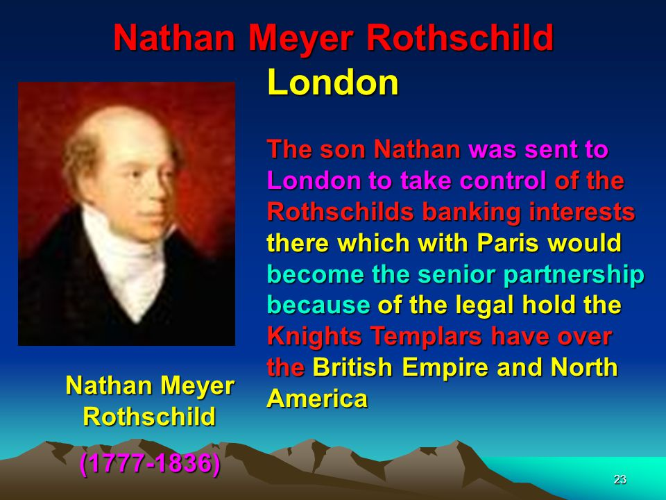 Nathan Meyer Rothschild London