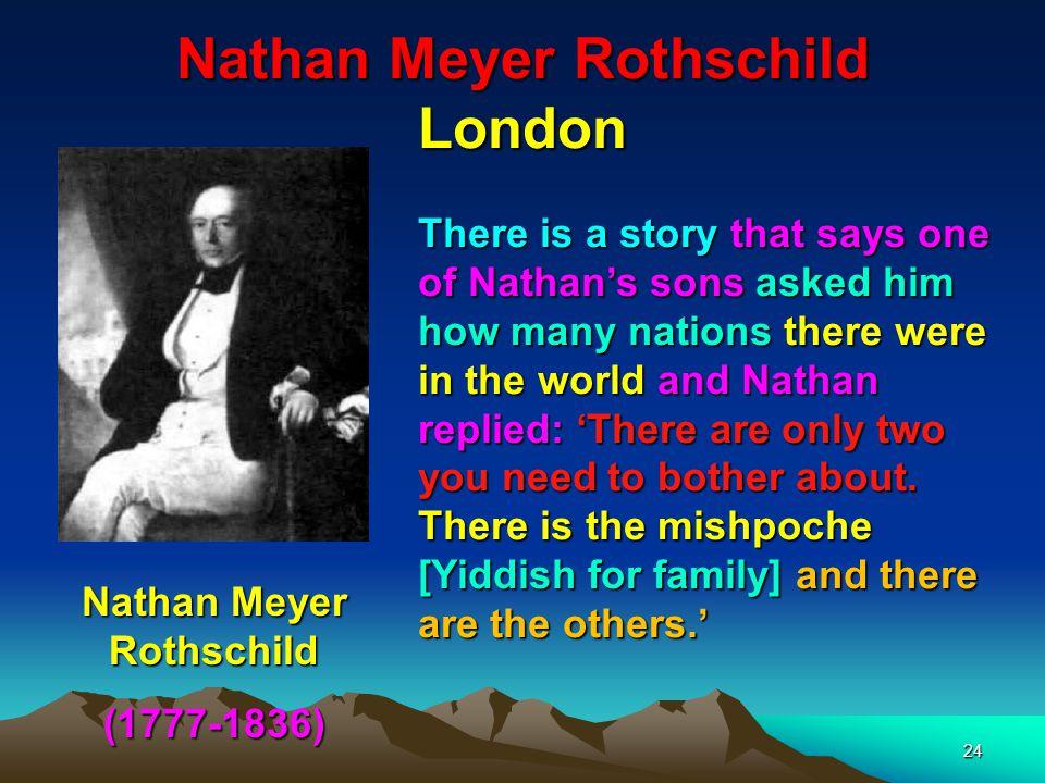 Nathan Meyer Rothschild London