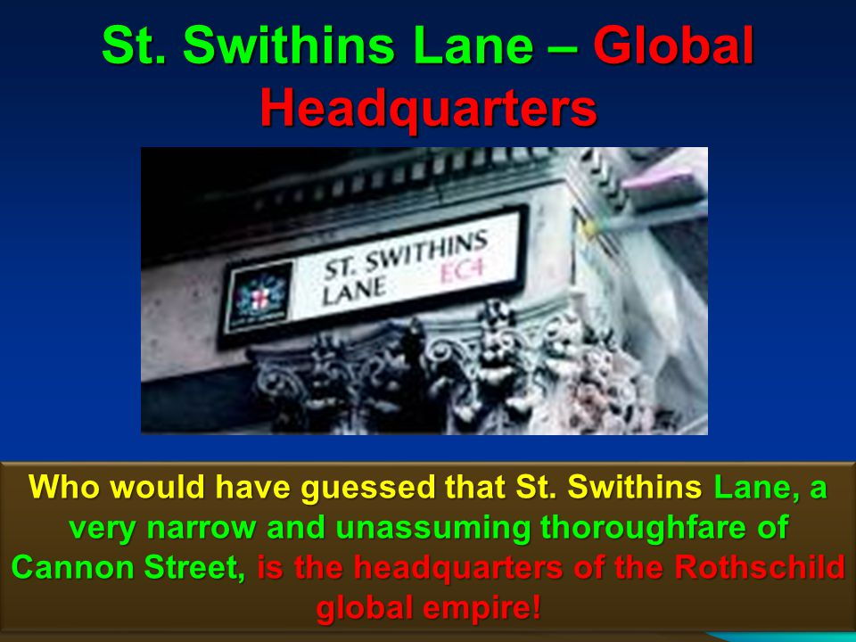 St. Swithins Lane – Global Headquarters
