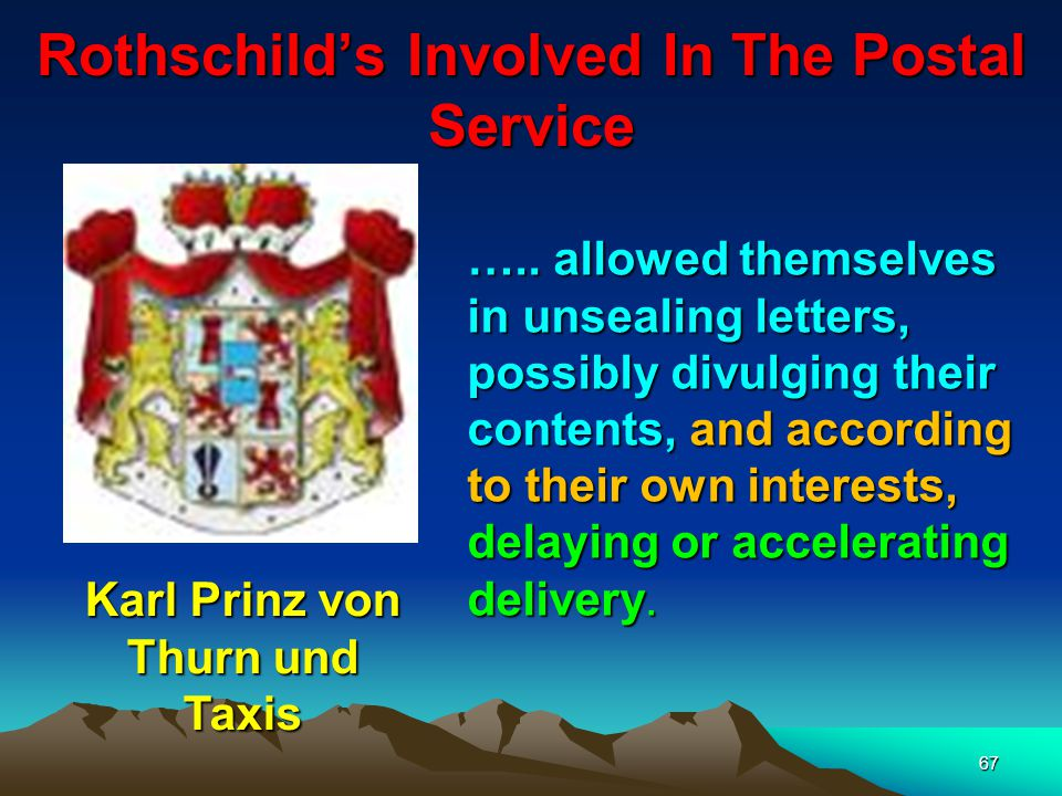 Rothschild's Involved In The Postal Service