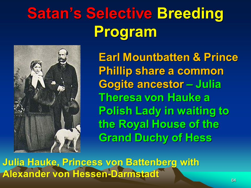 Satan's Selective Breeding Program