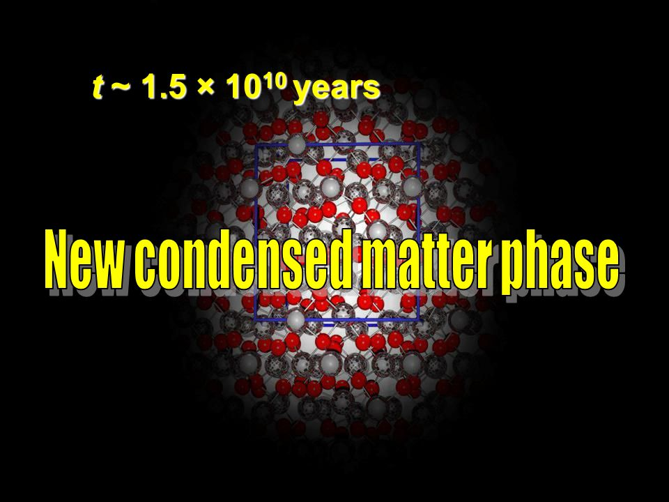 New condensed matter phase