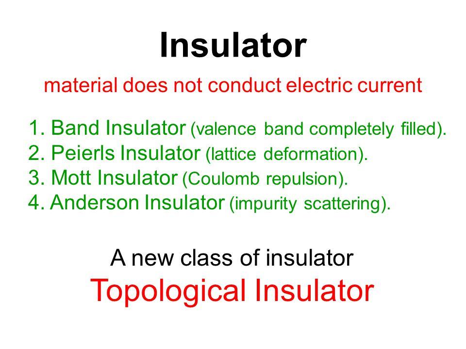 Insulator Topological Insulator A new class of insulator