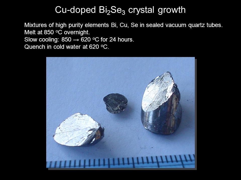 Cu-doped Bi2Se3 crystal growth