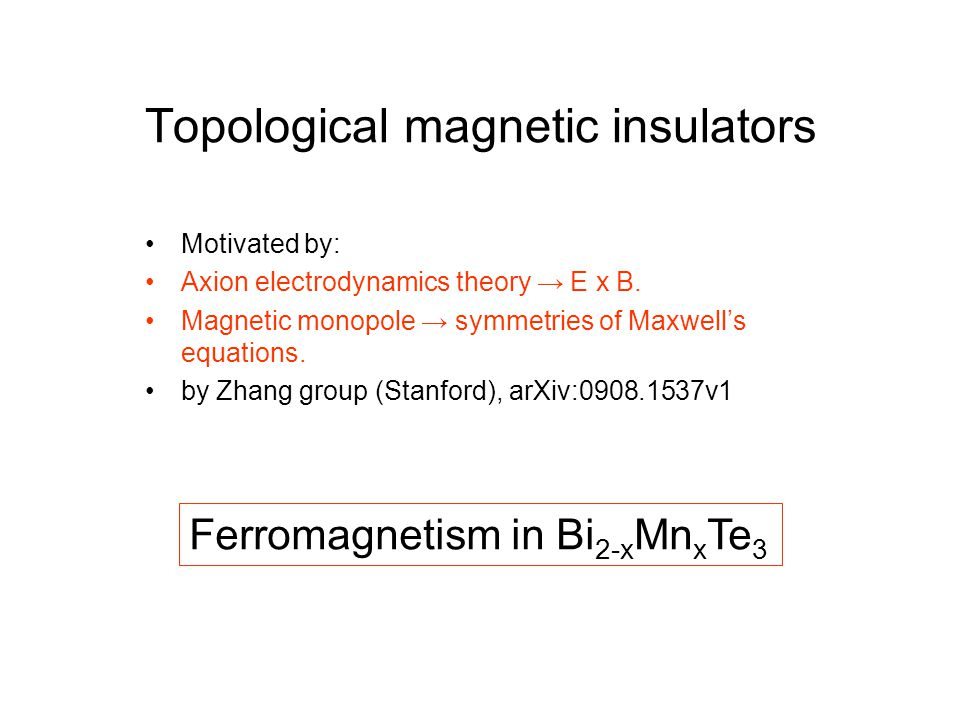 Topological magnetic insulators
