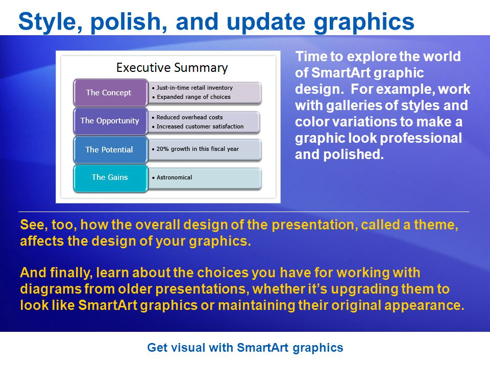 Style, polish, and update graphics