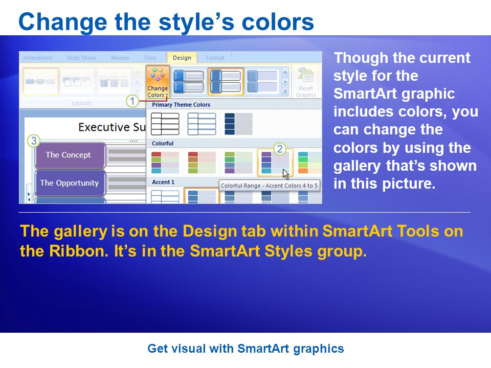 Change the style's colors