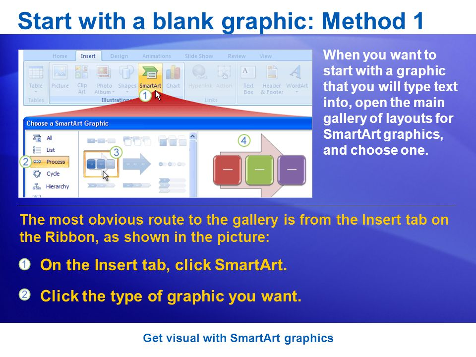 Start with a blank graphic: Method 1
