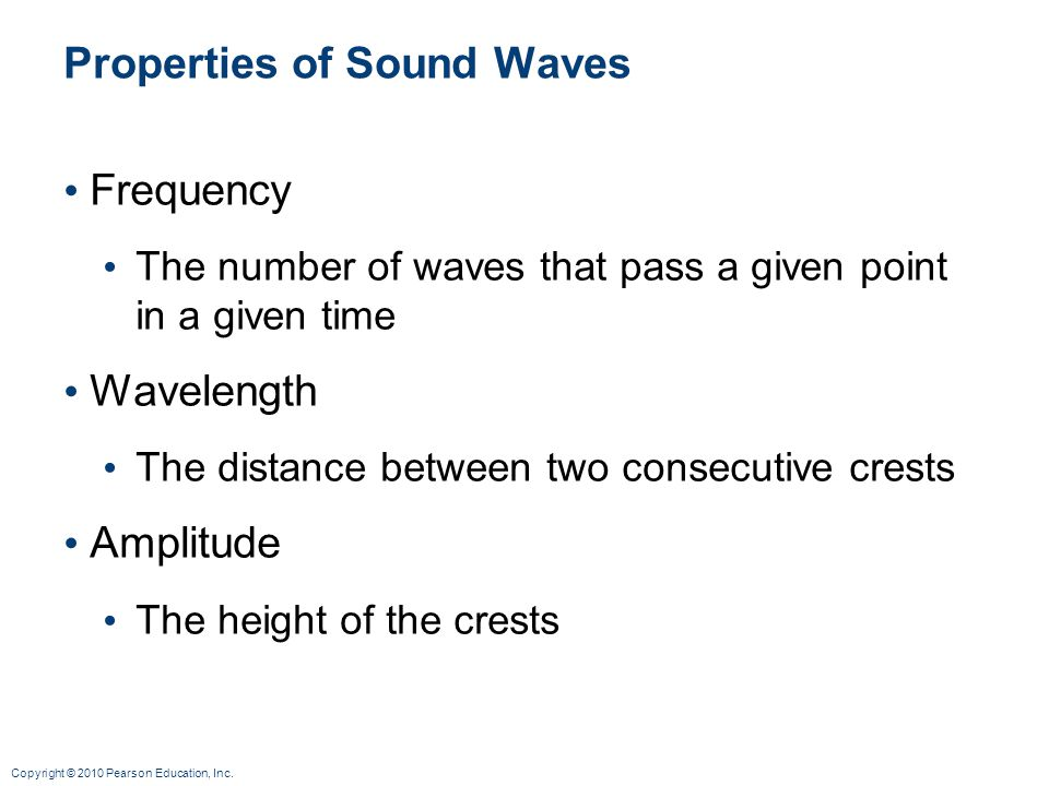 Properties of Sound Waves