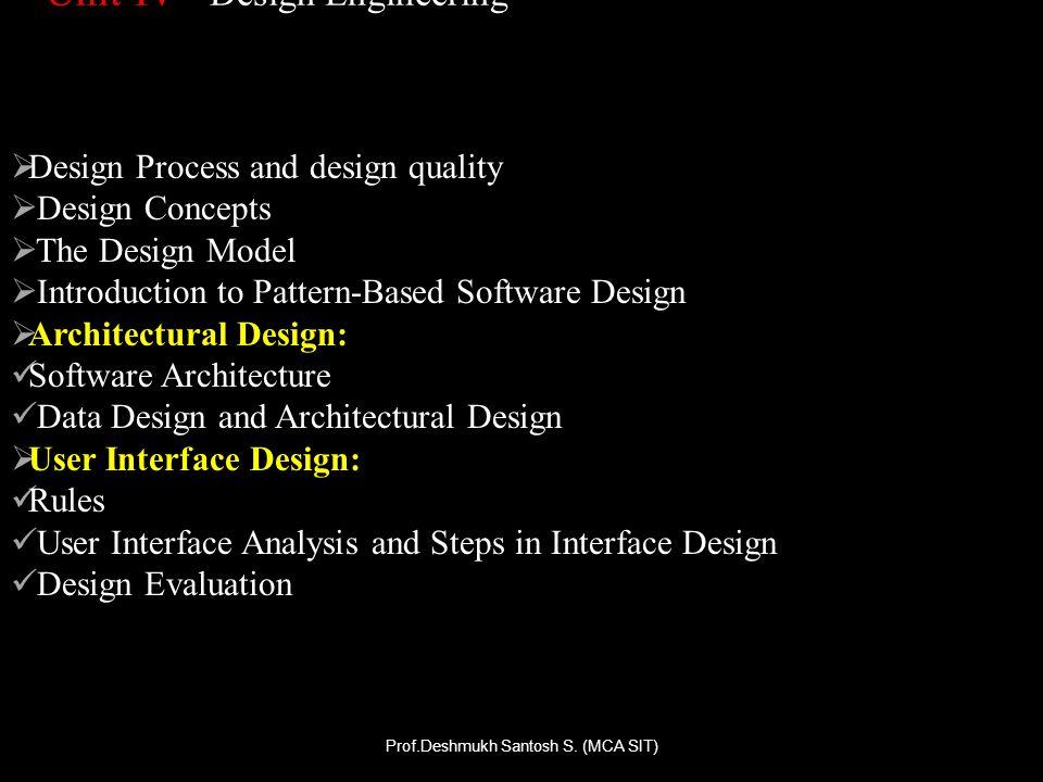 Unit-IV Design Engineering