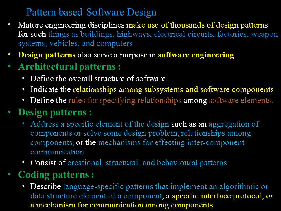 Pattern-based Software Design