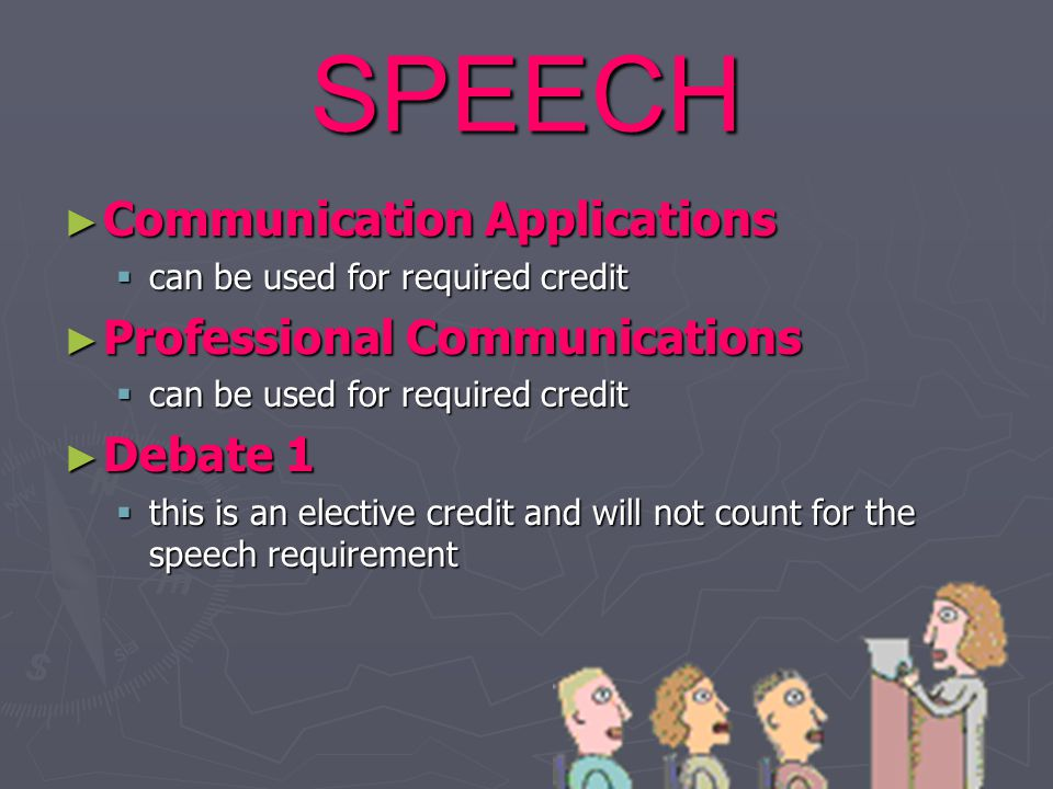 SPEECH Communication Applications Professional Communications Debate 1