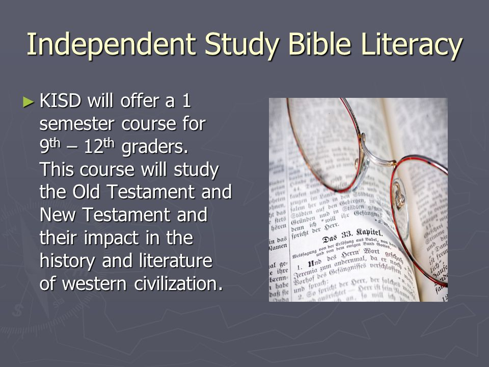 Independent Study Bible Literacy