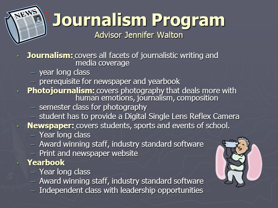 Journalism Program Advisor Jennifer Walton