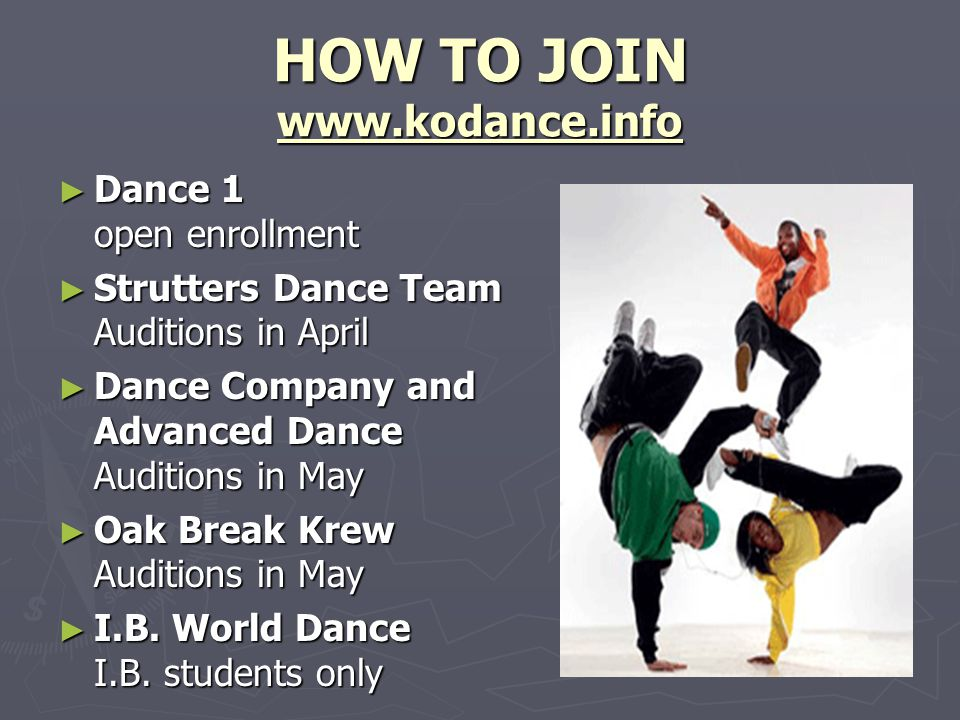 HOW TO JOIN www.kodance.info