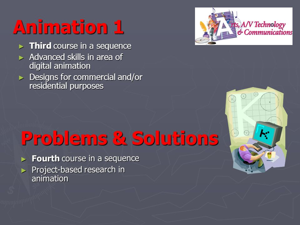 Animation 1 Problems & Solutions Third course in a sequence