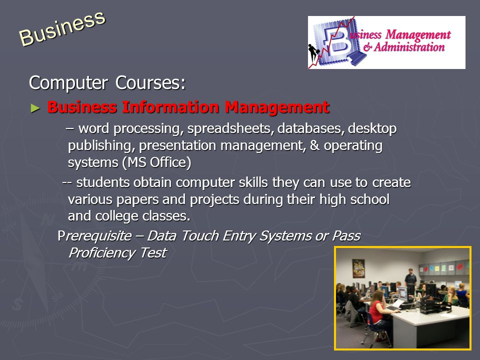 Business Computer Courses: Business Information Management