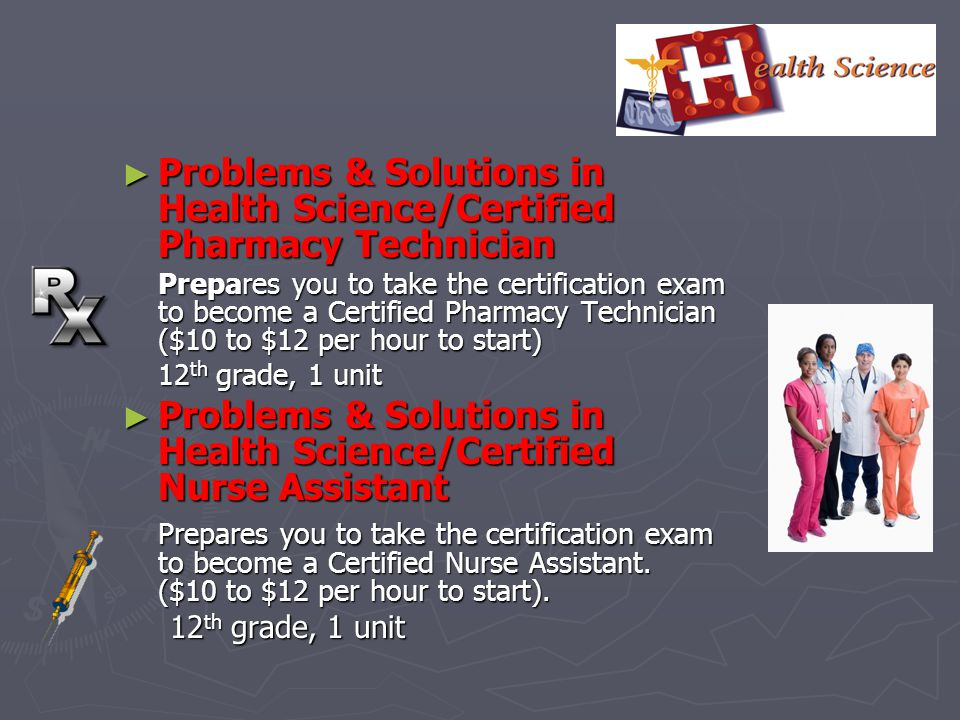 Problems & Solutions in Health Science/Certified Pharmacy Technician