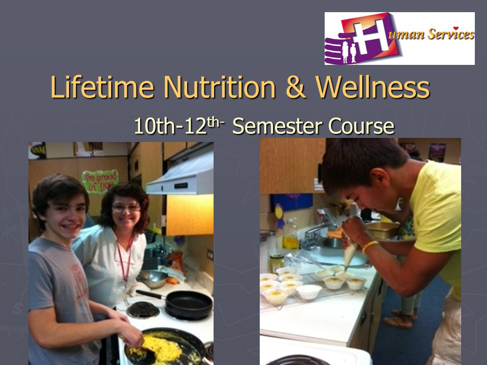 Lifetime Nutrition & Wellness 10th-12th- Semester Course