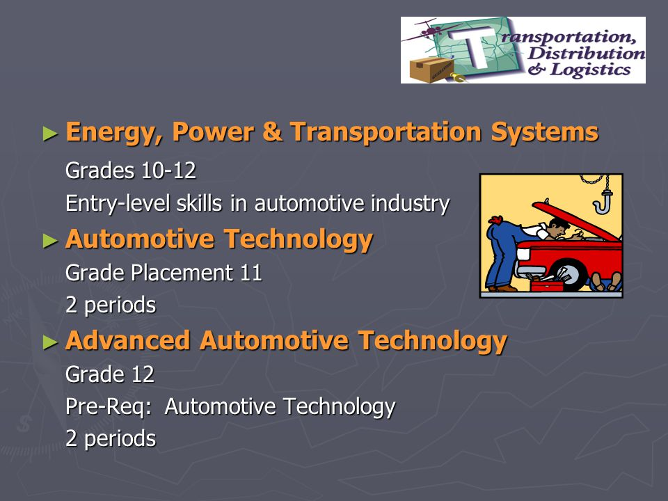 Energy, Power & Transportation Systems Grades 10-12