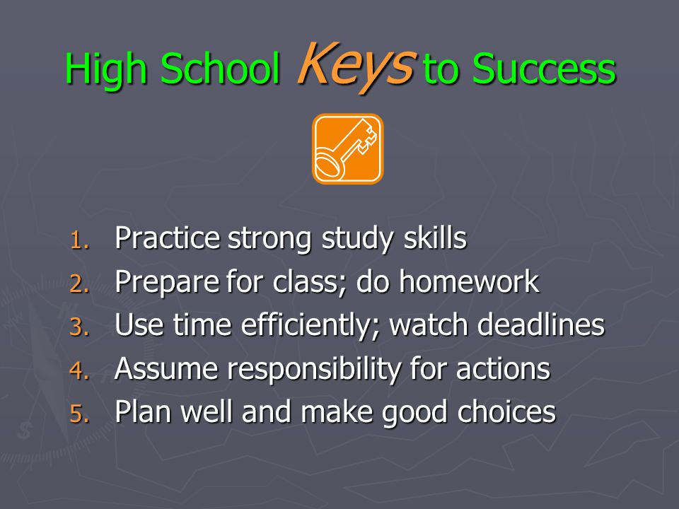 High School Keys to Success