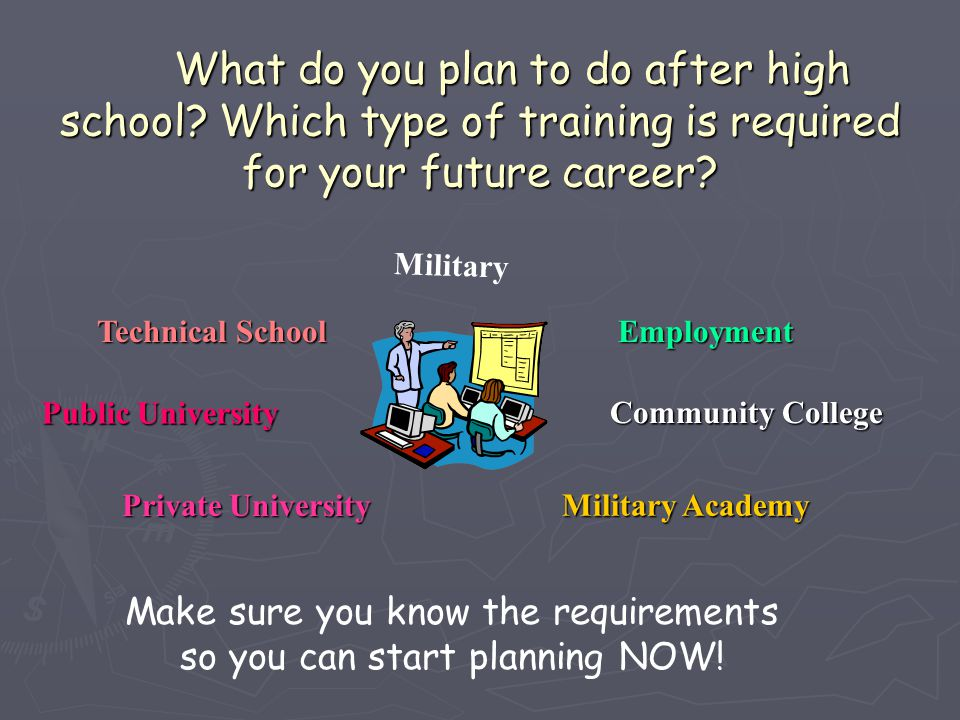 Make sure you know the requirements so you can start planning NOW!