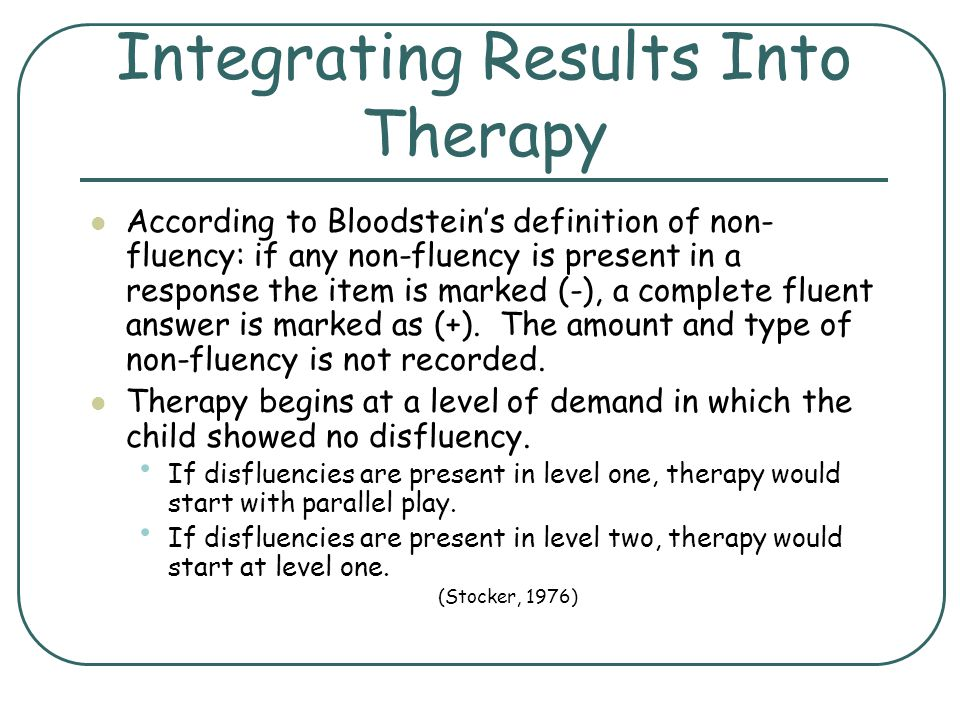 Integrating Results Into Therapy