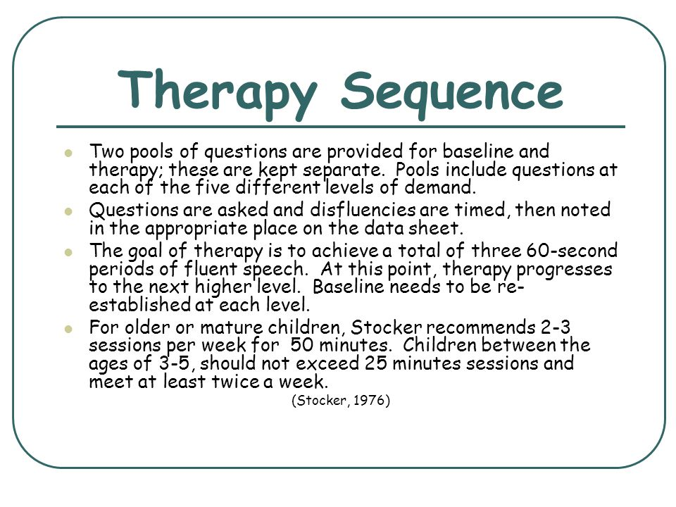 Therapy Sequence