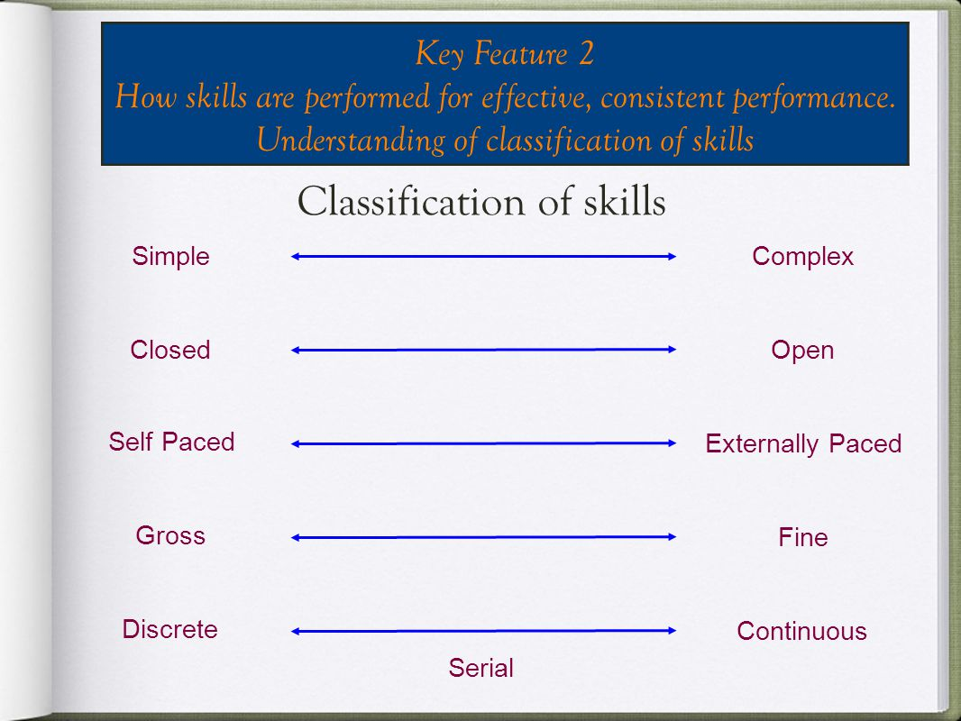 Classification of skills