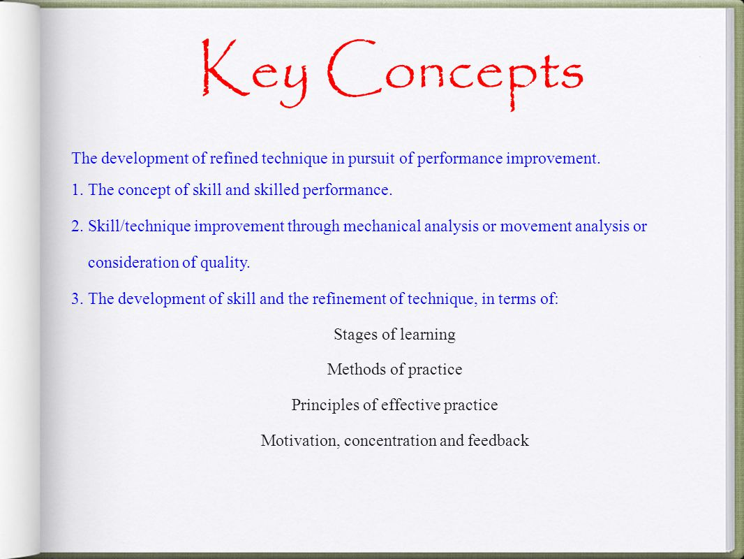 the key concepts and principles of assessment essay Check out our top free essays on define the key concepts and principles of assessment to help you write your own essay.
