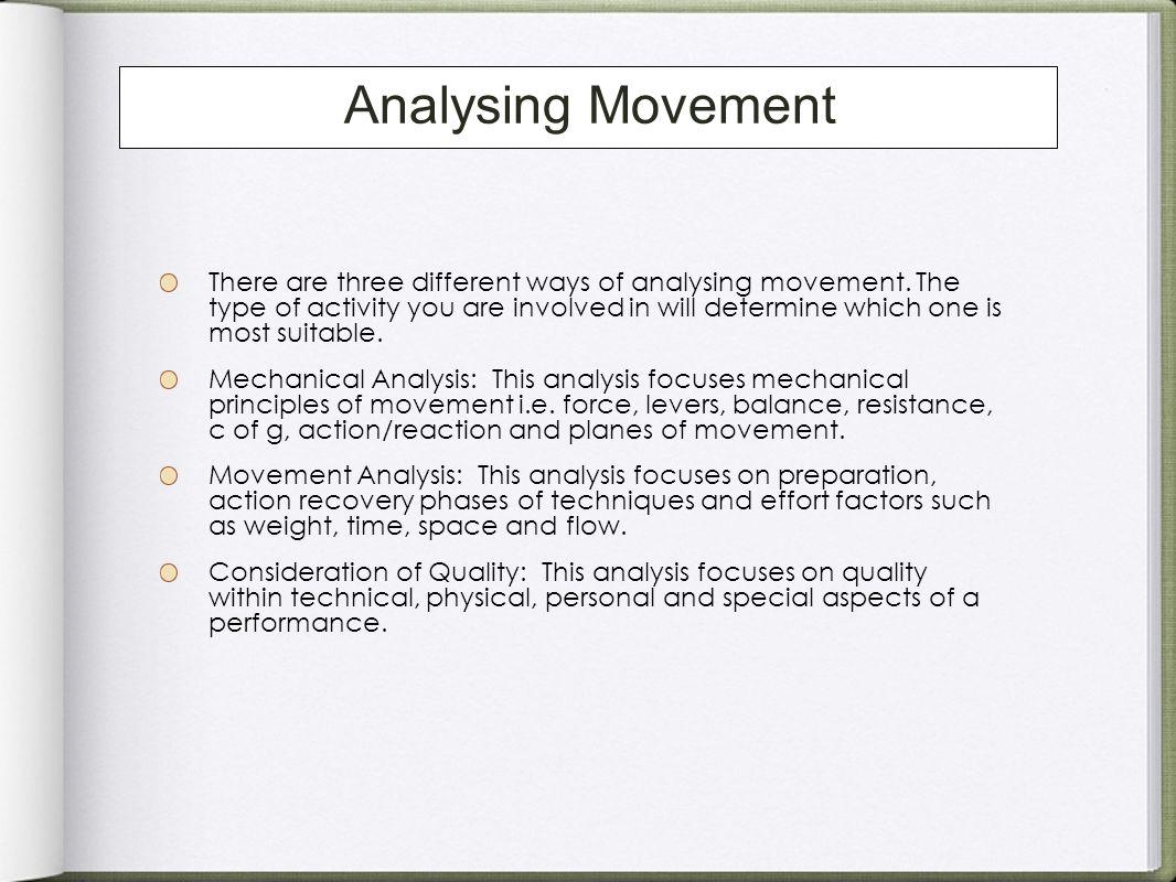Analysing Movement