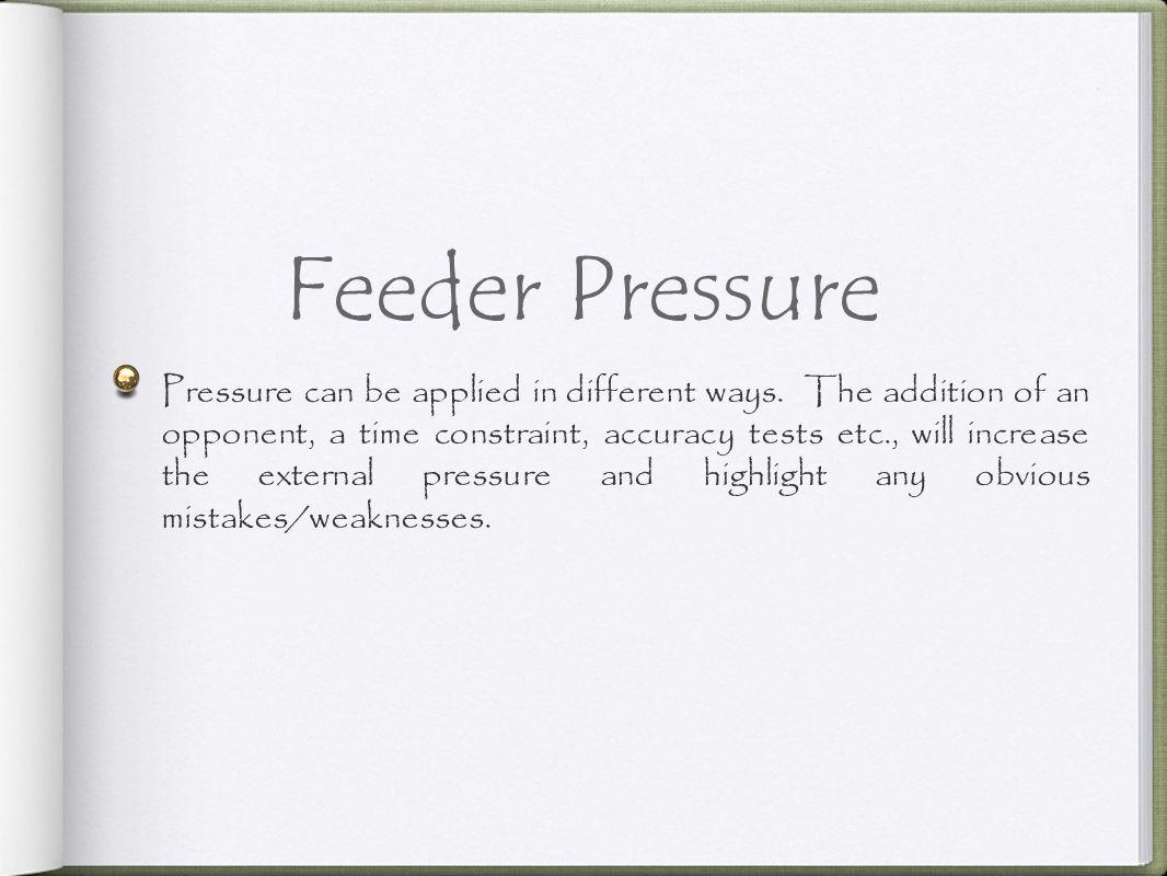 Feeder Pressure