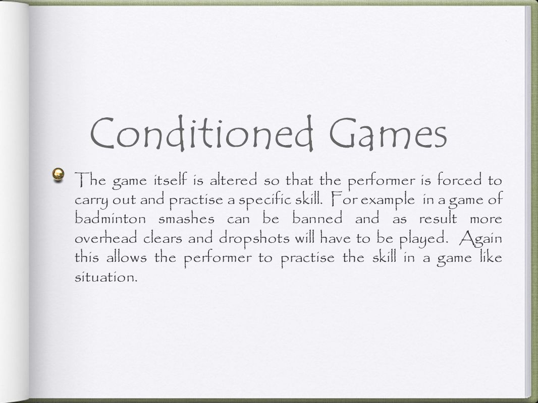 Conditioned Games